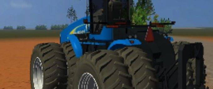 New Holland T9060 with hydraulic tail