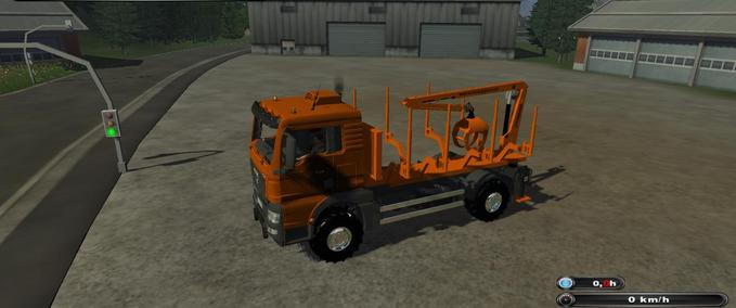 Truck with crane including pliers
