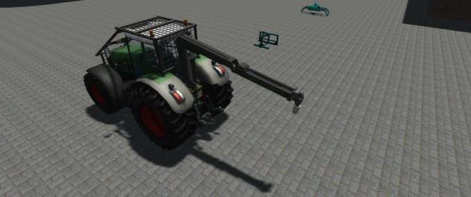 Fendt 936 with forestry attachments
