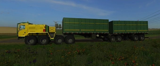 X-treme MAN truck and trailer Bitrem multi-fruit v 1.0beta