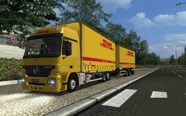 MB DHL + 2 Trailer