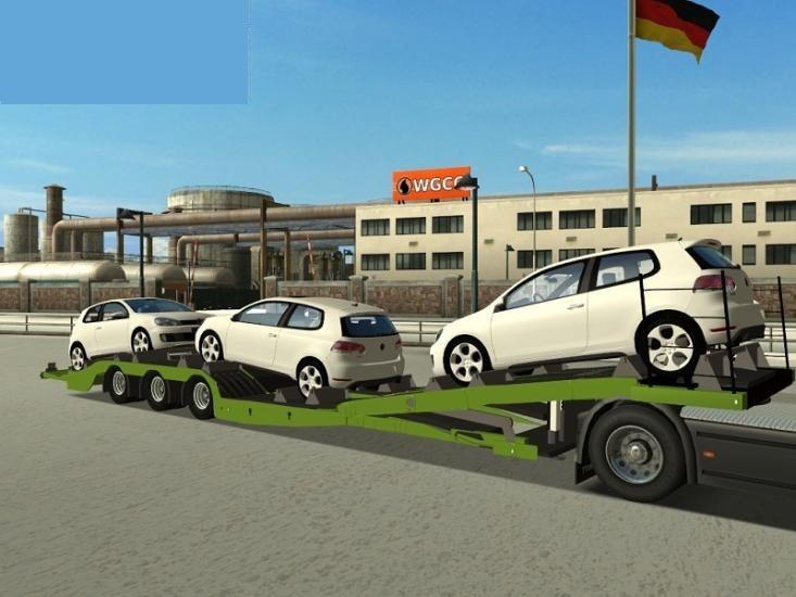 Tirsan trailer with 3 VW Golf VI by Syncron