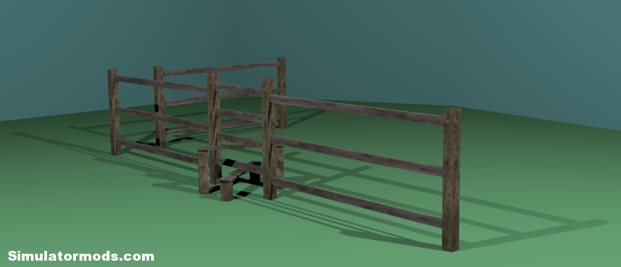Traditional english stile with fencing