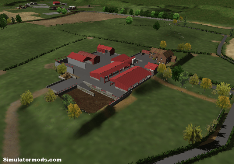 Burton Hall Farm UK map