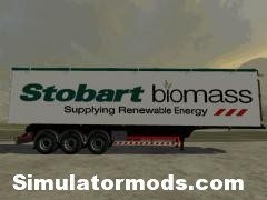 Stobart Biomass trailer with sugarbeet and potato planes