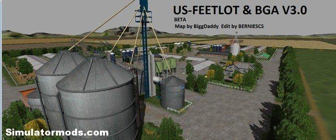 U S  Feetlot with BGA (Beta) v3 - Farming simulator 2017