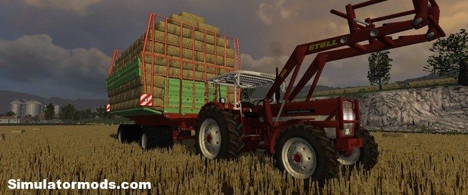 IHC 624  Stoll industry with top loaders HD