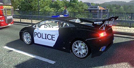 Lamborghini LP560 Police in AI traffic - Farming simulator