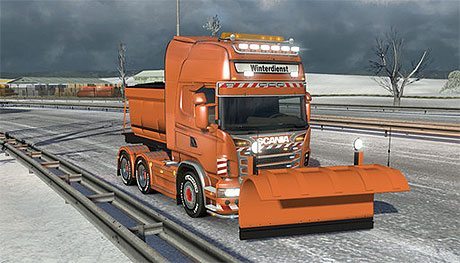 Scania R snow plow