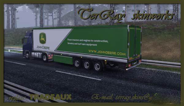 John Deere trailer skin