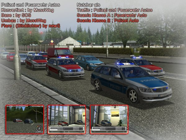 Polizei und Feuerwehr Autos by MussWeg mod