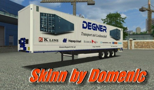 Spedition Degner Trailer MST DD 812 mod