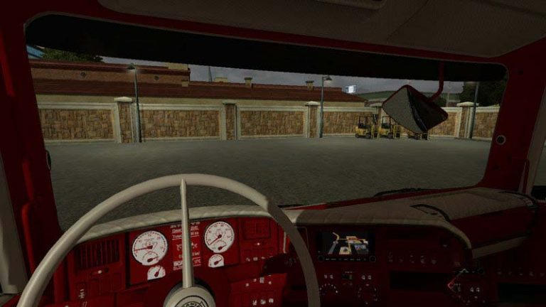Scania Interior red and white v2.0
