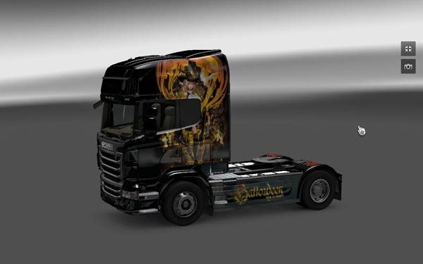 Halloween skin for Scania