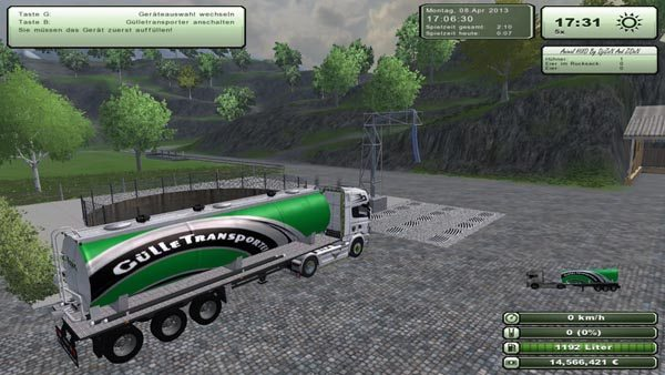 Manure truck with Dolly v 2.0