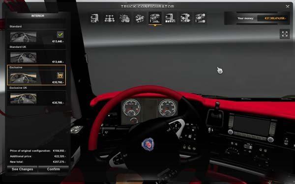 Scania Luxus Interior v2