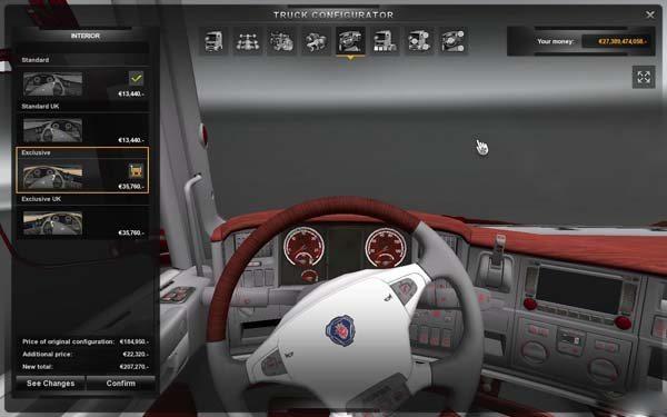 Scania Mahogany Interior