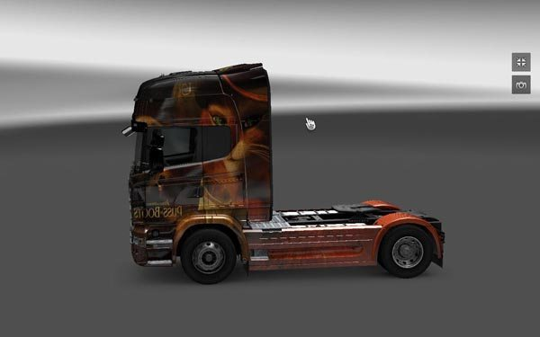 Skin Push in Boots For Scania