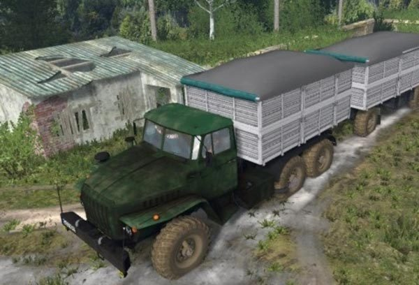 4320 Ural and trailers v 1.2 [MP]