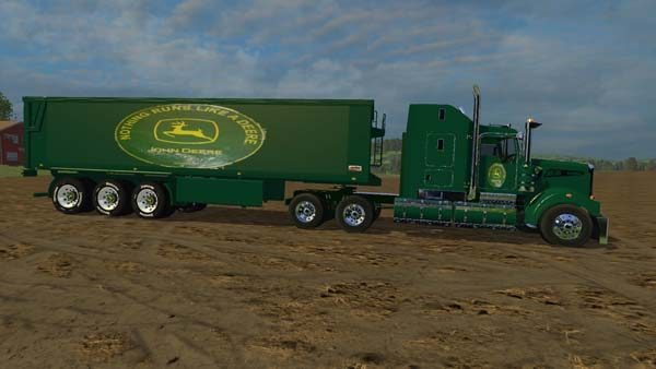 John Deer Truck and Trailer