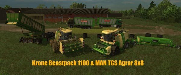Krone BigX 1100 BeastPack v 12.0 Beta [MP]