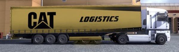 Krone Profiliner and Coolliner CAT Logistics Trailer Skin