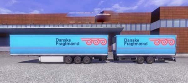 Krone Profiliner and Coolliner Danske Fragtmaend Trailer Skin