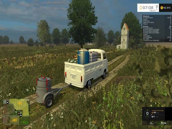 Small MILK TANK with trailer v 1.0 [MP] 1