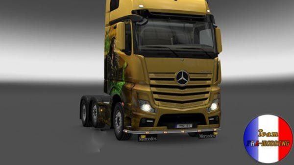 Bottomgrill mudflaps Mercedes Actros 2014