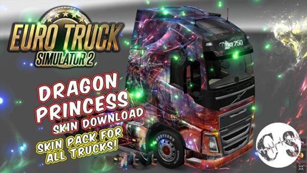 Dragon Princess Skin Pack for All Trucks + Volvo Ohaha