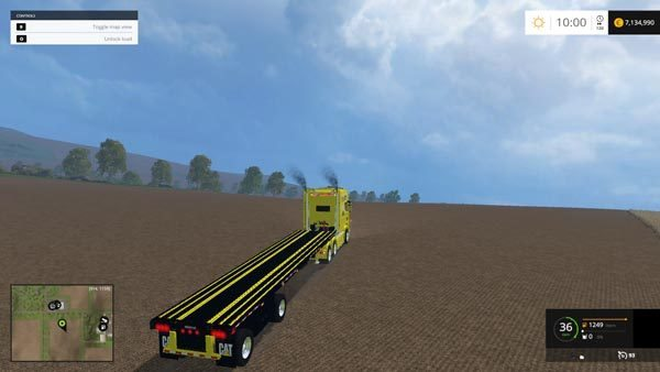 Scania Longline and US Flatbed Trailer Cat Edition v 1.0 1