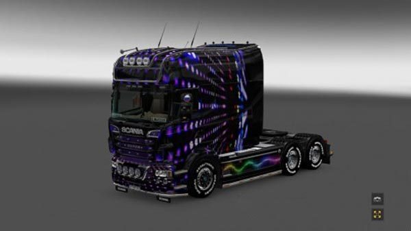 Scania RS EXC Longline RJL Disco Skin