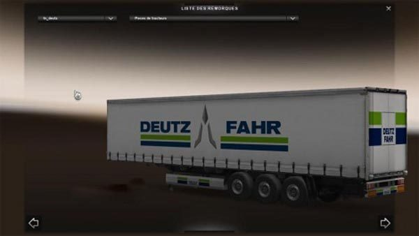 Deutz Fahr trailer