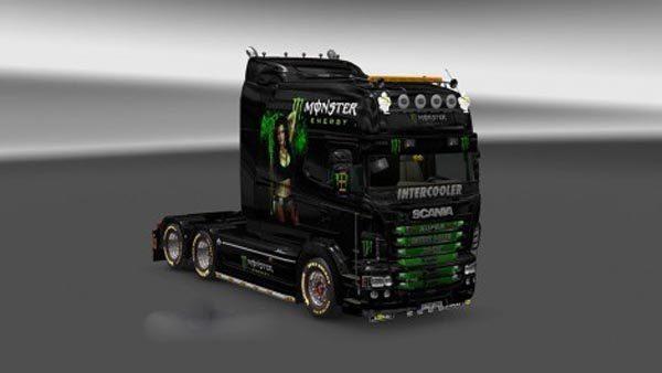 Scania RJL EXC Monster Energy Skin