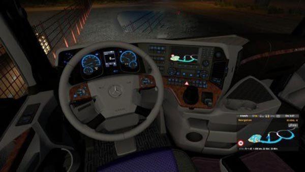 Mercedes Benz Actros MP4 Interior