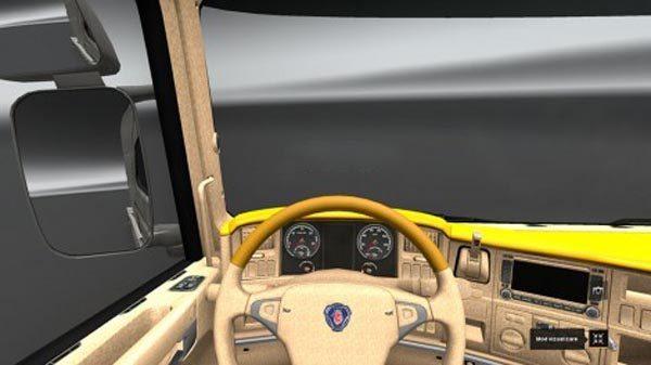 Scania R Yellow Interior