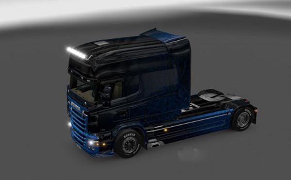 Scania RJL Blue Dark Glossy Skin