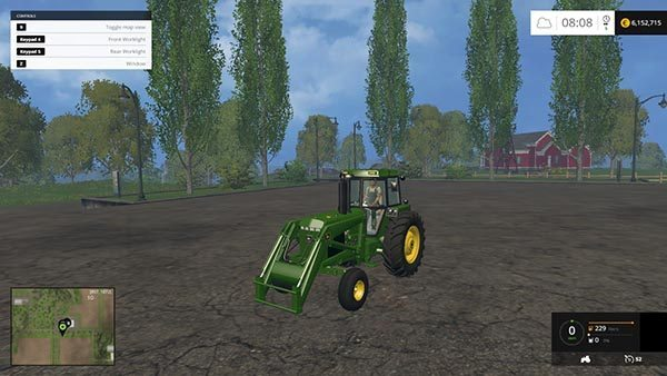 John Deere 4455 WITH FLUPACK v 1.0