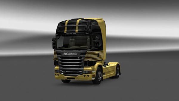 Scania Gold Skin and Interior