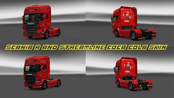 Scania R and Streamline CocaCola skin