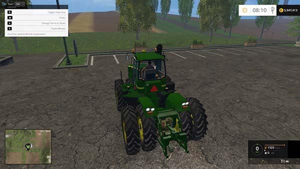 John Deere 9630 Selectable Wheels v 4.0 1