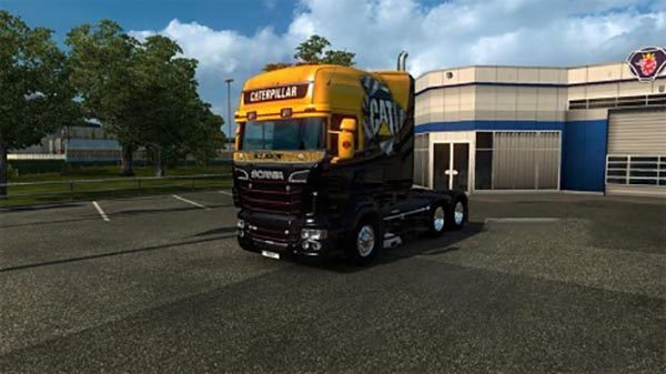 Scania RS RJL Caterpillar Skin