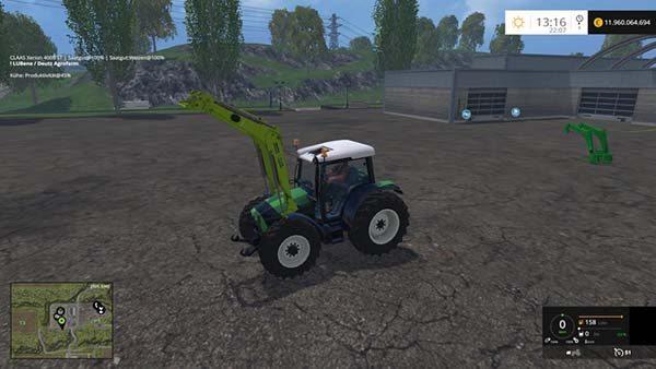 Deutz Fahr Agrofarm 430 with FL v 1.3 [SP] 1