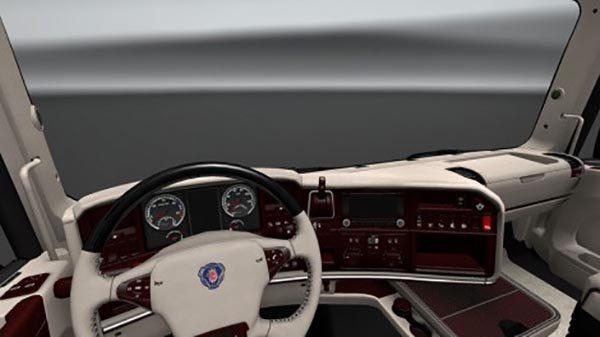 Scania RJL T Streamline V8 White Lux Interior