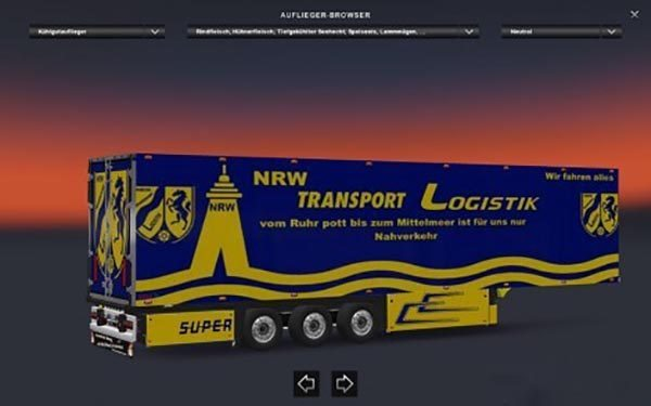 NRW Transport Logistik Trailer