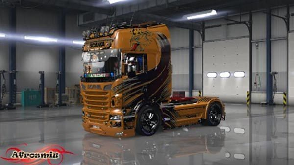 Scania Best Orange Skin