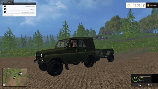 UAZs and trailers for cars v 1.0 [MP] 1
