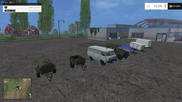 UAZs and trailers for cars v 1.0 [MP]