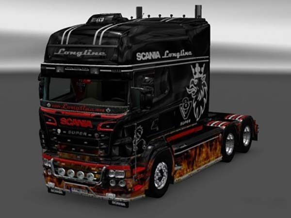 Fire Skin for RJL SCANIA R Longline V 2.0