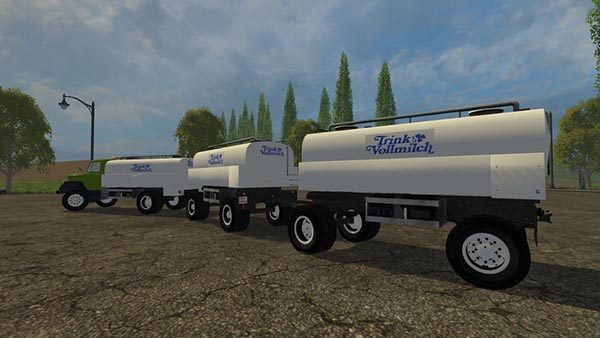 Magirus milk Truck with trailer v 1.0 [MP] 1